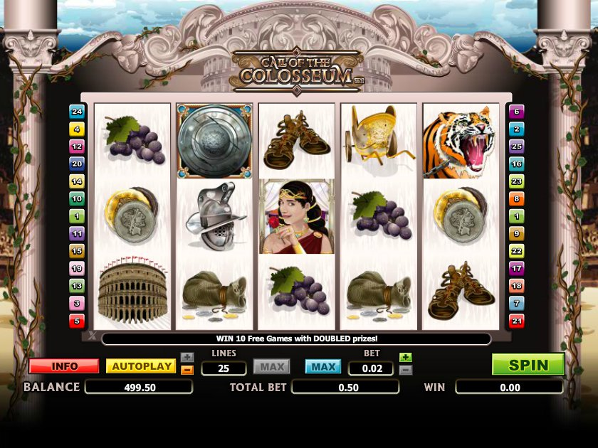 Zdarma automat Call of the Colosseum online