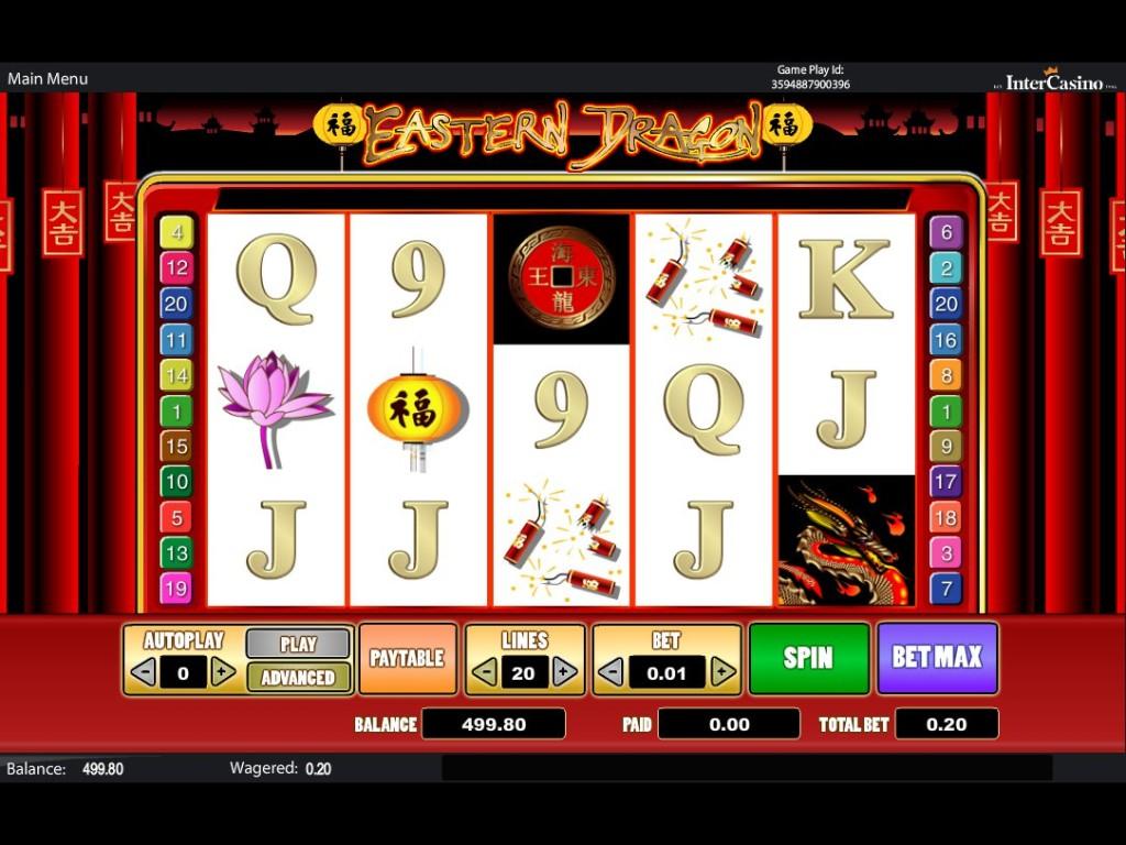 Casino automat Eastern Dragon zdarma