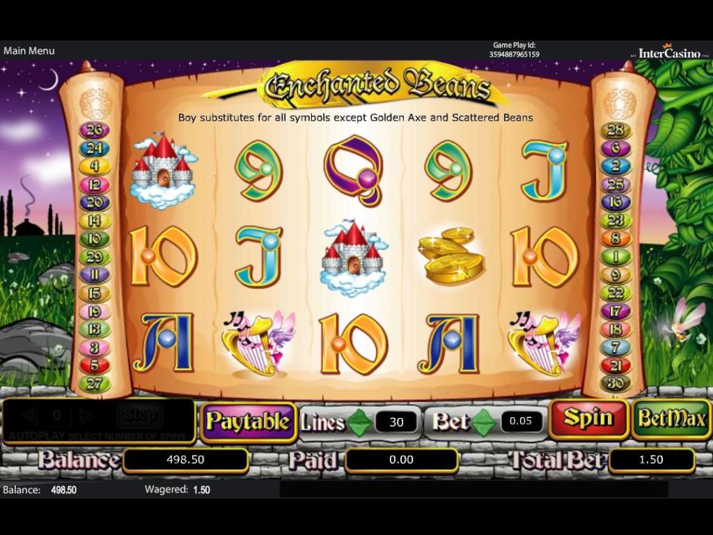 Online hrací automat Enchanted Beans