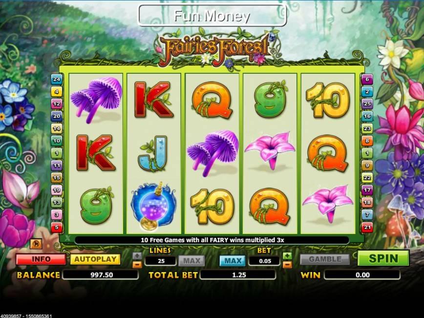 Casino automat Fairies Forest zdarma