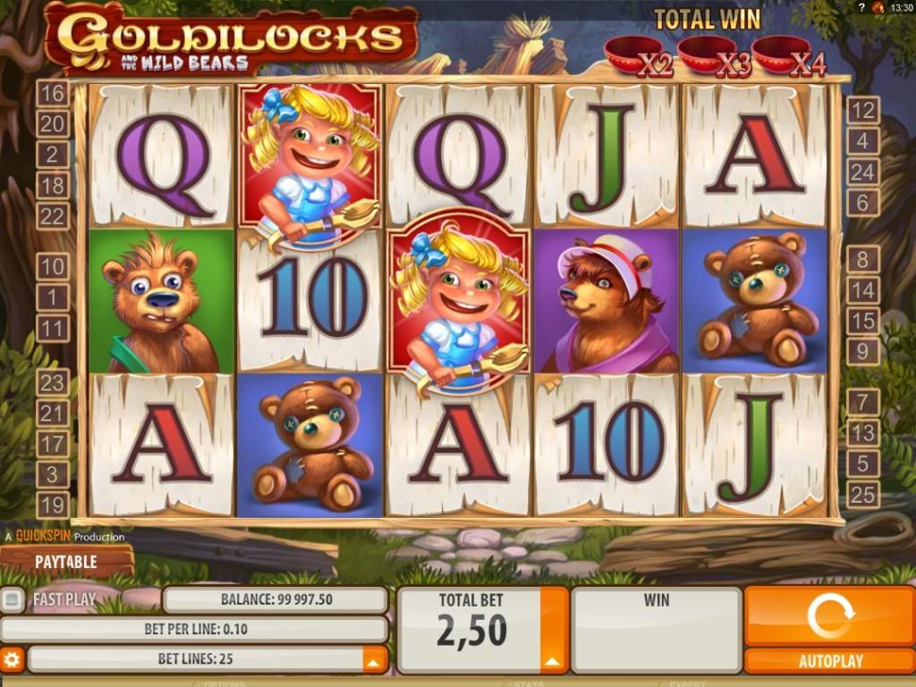 Herní automat zdarma Goldilocks and the Wild Bears