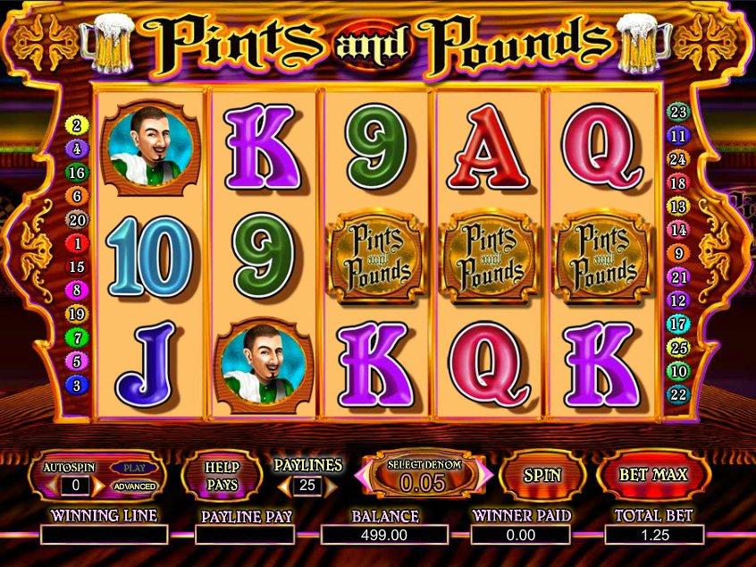 Zdarma casino hra Pints and Pounds