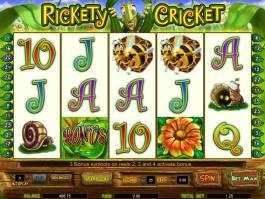 Hrací automat zdarma Rickety Cricket