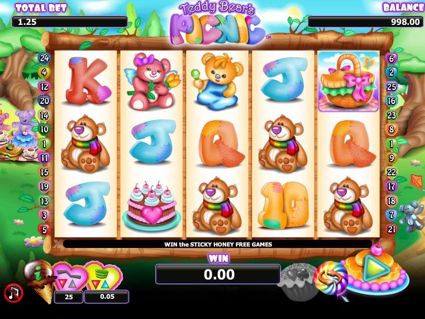 Casino hra Teddy Bear´s Picnic zdarma online