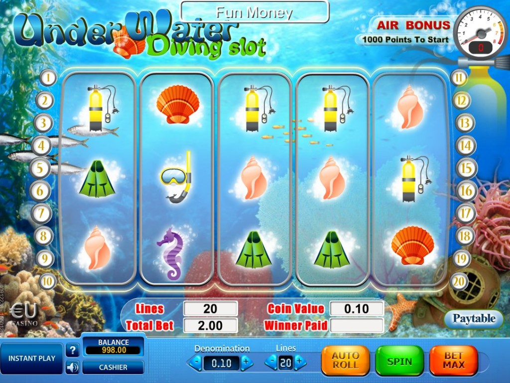 Online automat Underwater Diving Slot