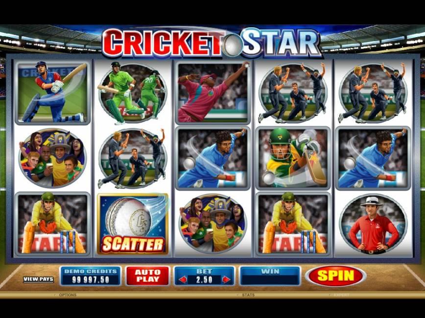 Online automat Cricket Star pro zábavu