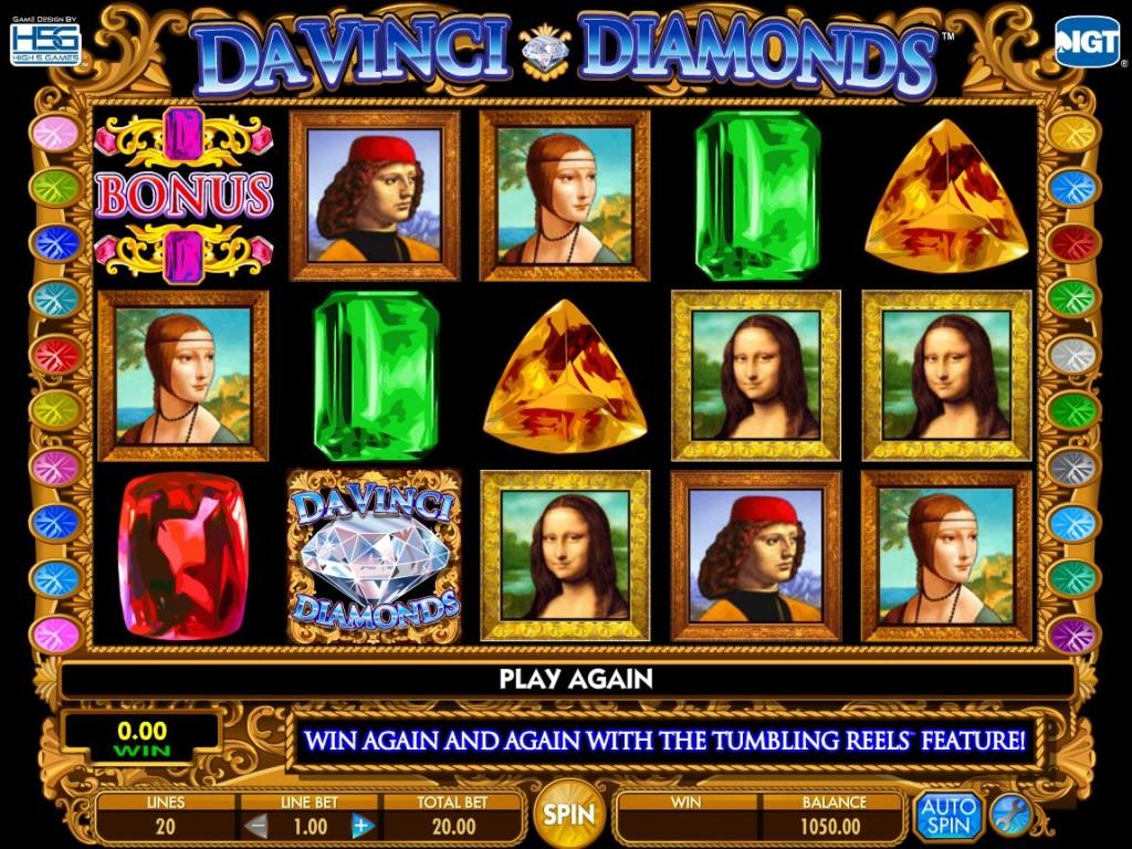 Herní online automat Da Vinci Diamonds