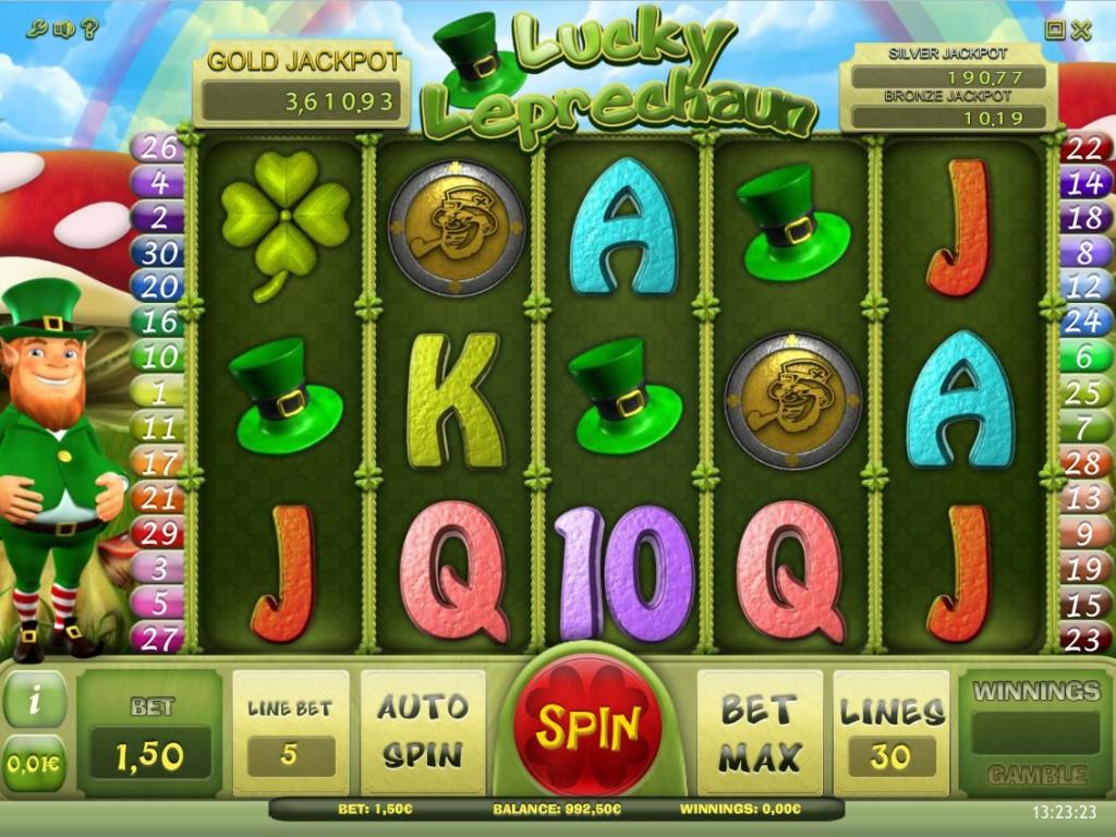Lucky Leprechaun herní online automat zdarma