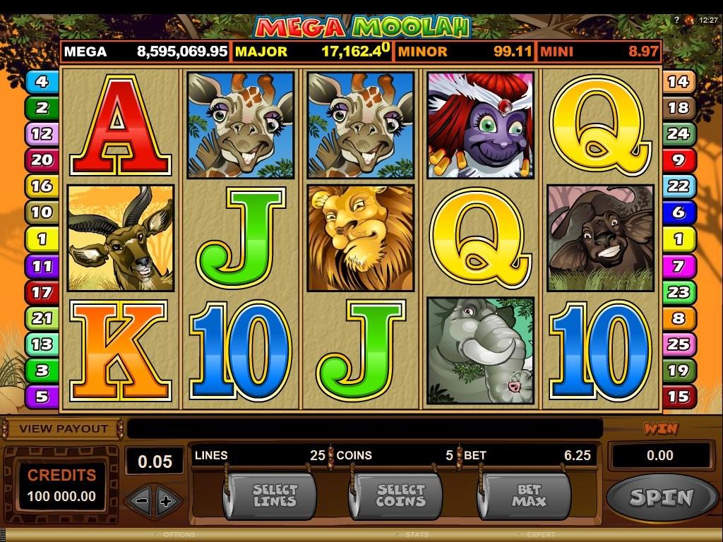 Herní casino automat Mega Moolah