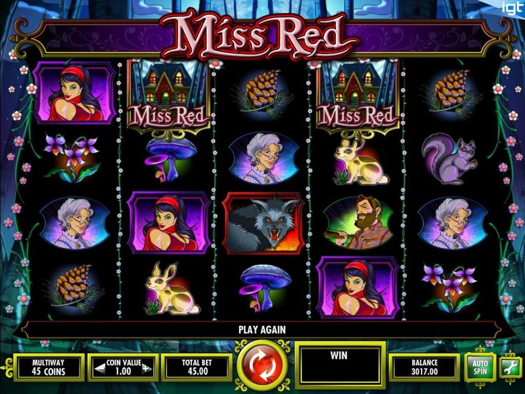Herní casino automat Miss Red bez registrace