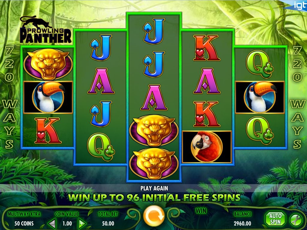 Online casino automat Prowling Panther