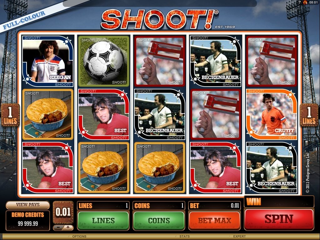 Hrací kasino automat Shoot! online zdarma