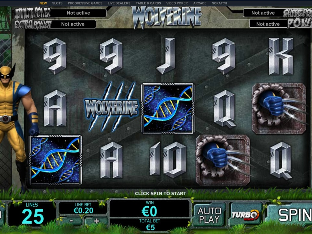 Casino automat Wolverine zdarma online bez registrace