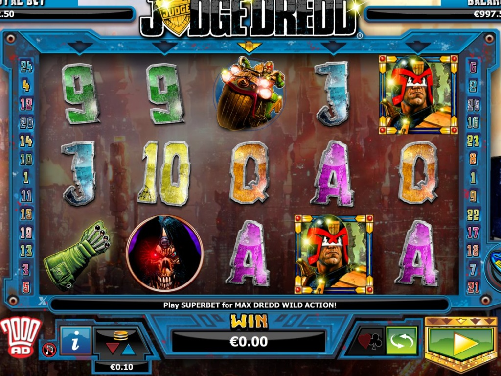 Casino online automat Judge Dredd bez registrace