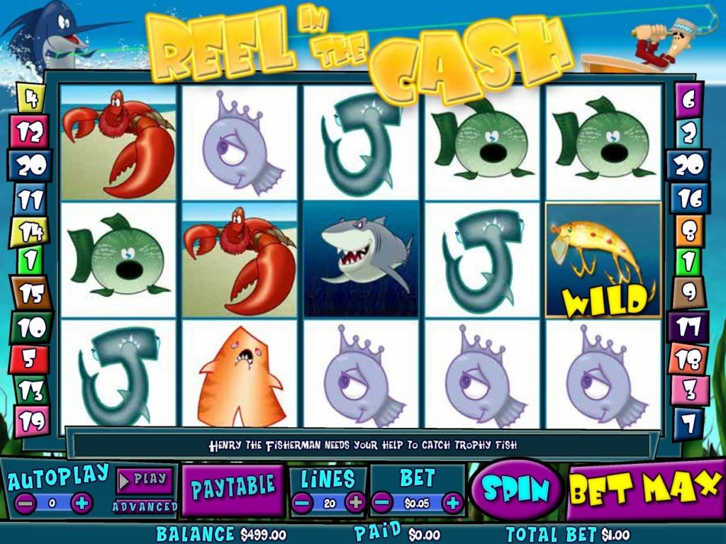 Herní kasino automat Reel in the Cash zdarma