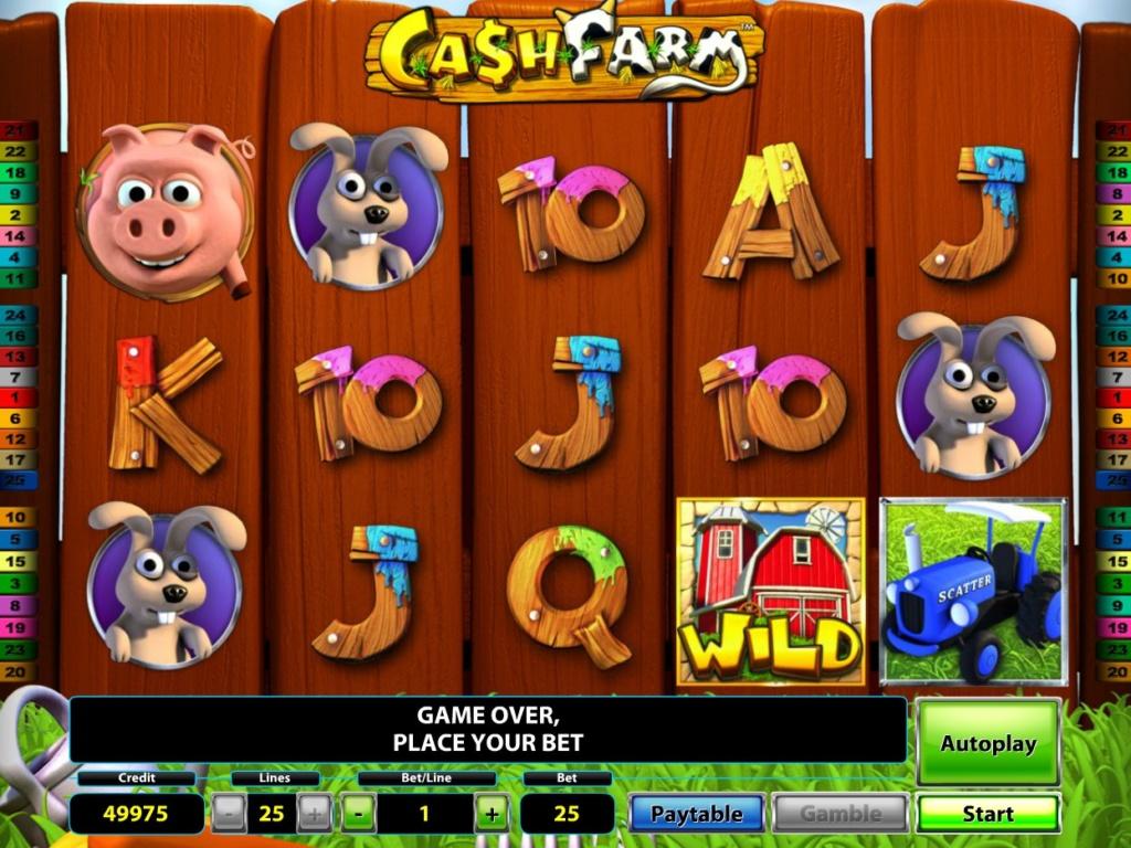 Online casino automat Cash Farm od Novomatic