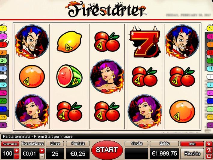 Zahrajte si online casino automat Firestarter zdarma
