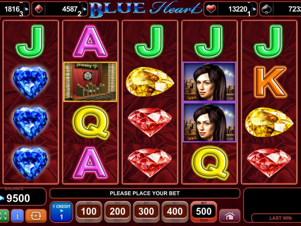 Casino hra Blue Heart online zdarma