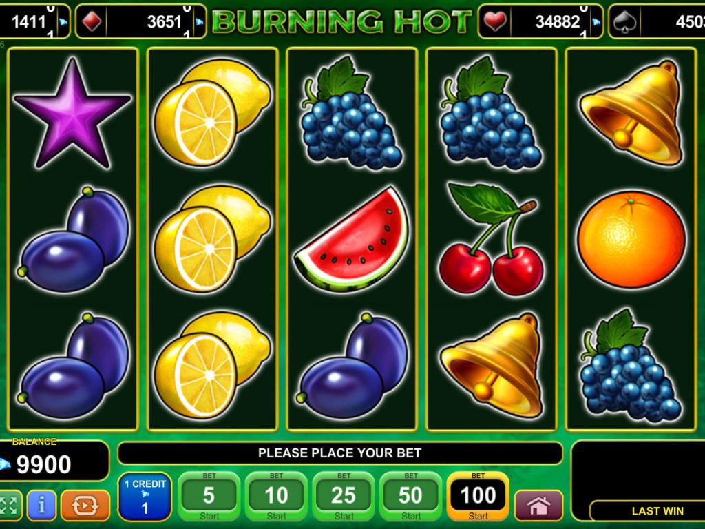 Casino hra Burning Hot online zdarma