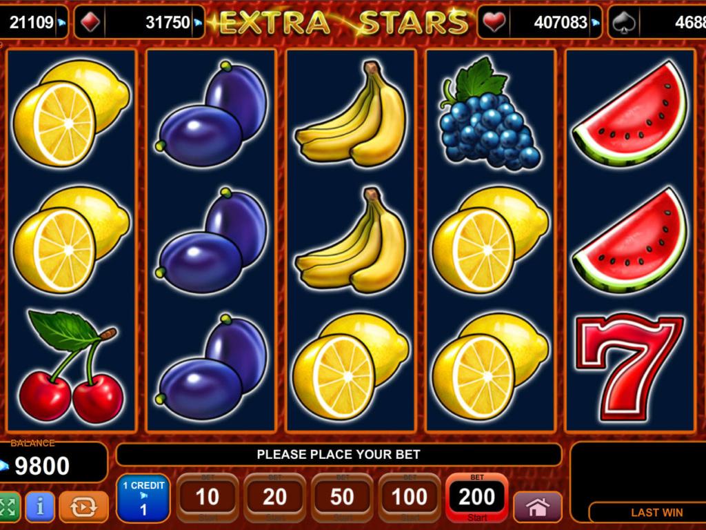 Casino hra Extra Stars online zdarma