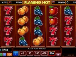 Casino hra Flaming Hot online, pro zábavu