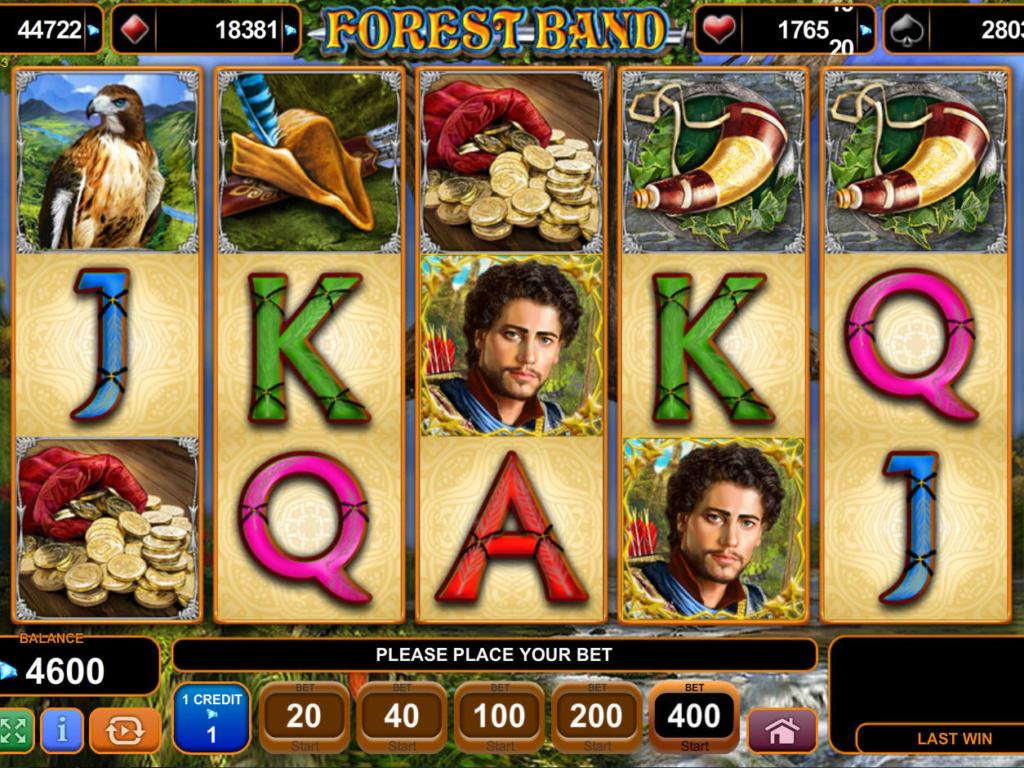 Zábavná casino hra Forest Band zdarma