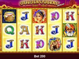 Automatová casino hra Golden Cobras Deluxe zdarma