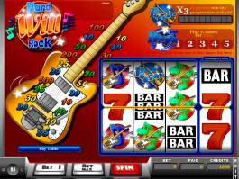 Obrázek ze hry casino automatu Hard Will Rock