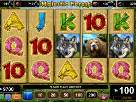 Zahrajte si casino hru Majestic Forest zdarma online