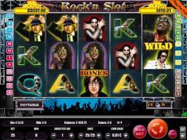 Hraje online automat Rock'n Slot bez registrace