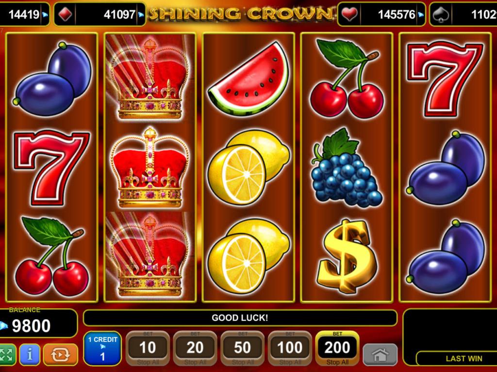Casino hra Shining Crown zdarma, bez vkladu