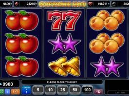Zahrajte si casino hru Supreme Hot zdarma