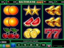 Herní automat Ultimate Hot bez vkladu