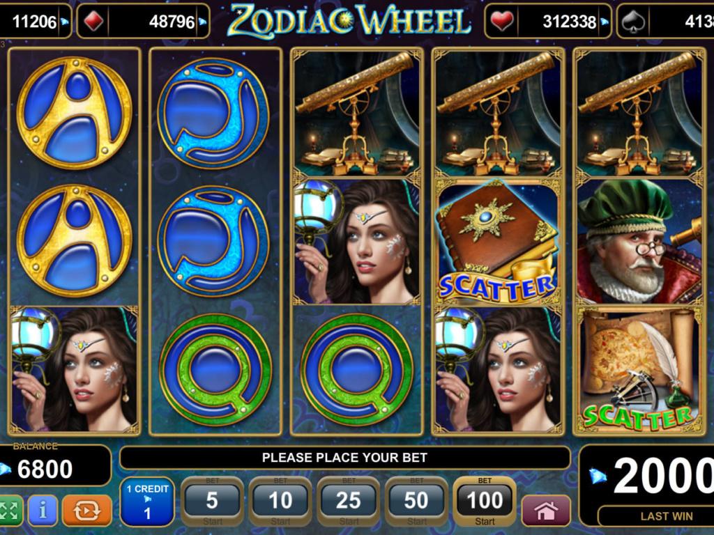 Casino hra Zodiac Wheel online