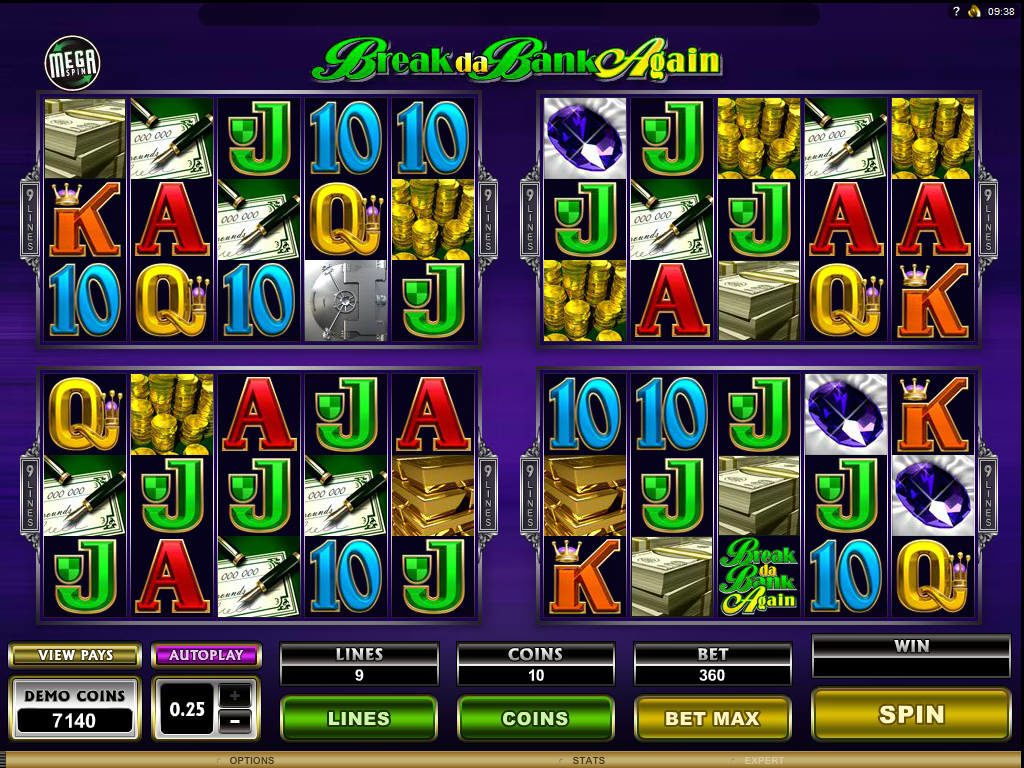 Herní casino automat zdarma Mega Spin: Break da Bank Again