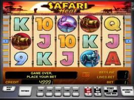 Obrázek ze hry automatu Safari Heat online