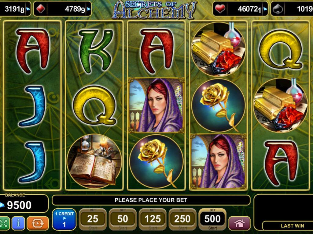 Online hrací automat Secrets of Alchemy zdarma