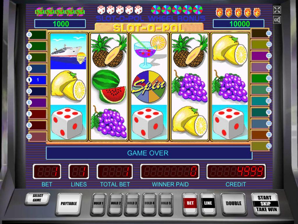 Slot-O-Pol herní automat zdarma