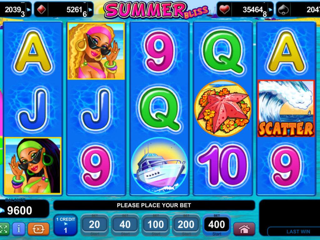 Online casino automat Summer Bliss