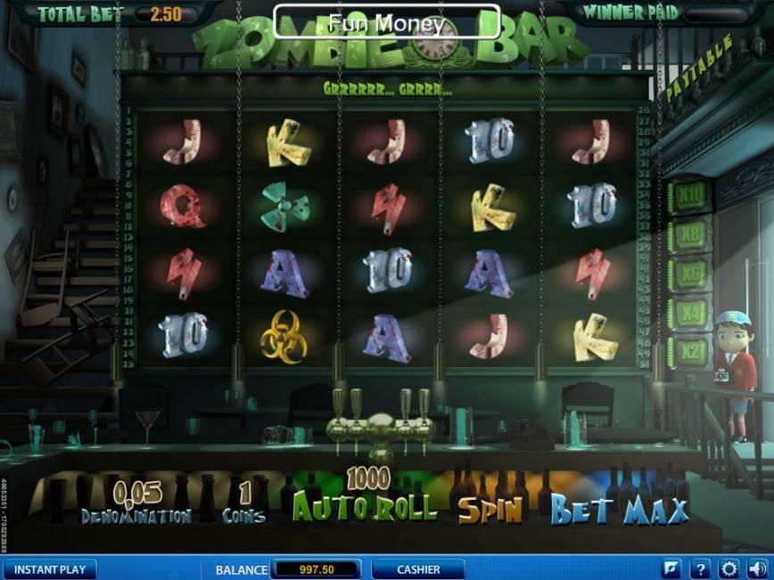 Online hrací automat zdarma Zombie Bar bez registrace