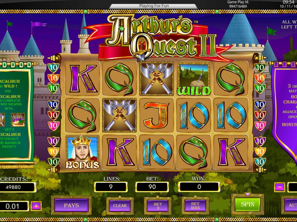 Automat zdarma Arthur's Quest II