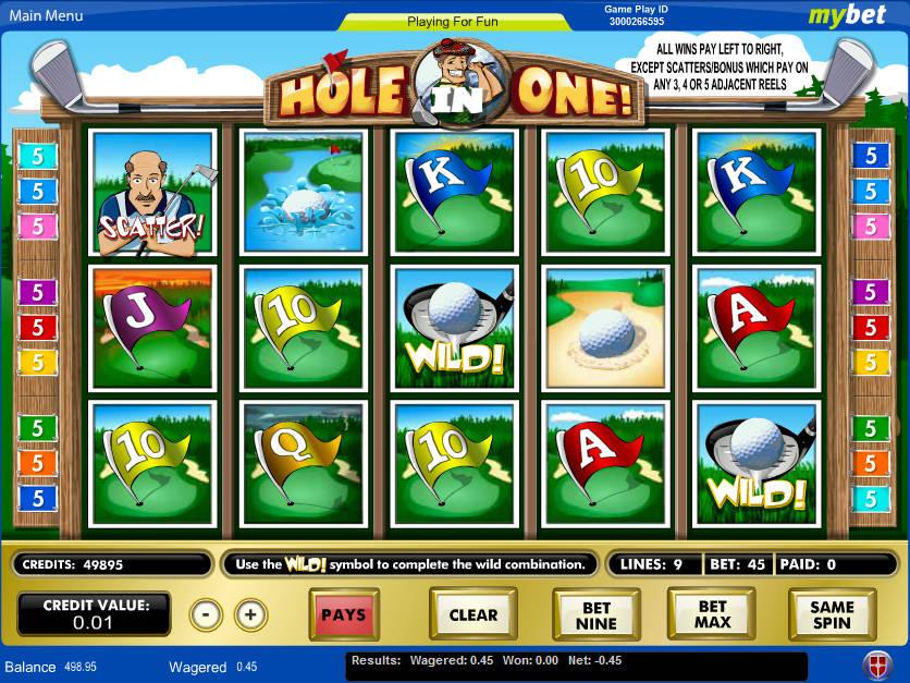 Casino automat Hole in One zdarma