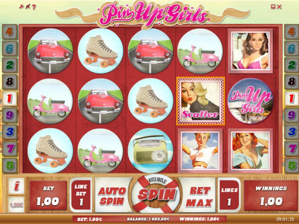 Online casino automat Pin Up Girls bez vkladu