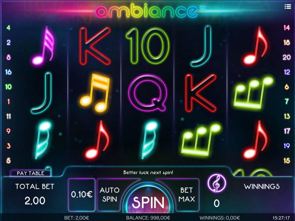 Herní automatu Ambiance zdarma