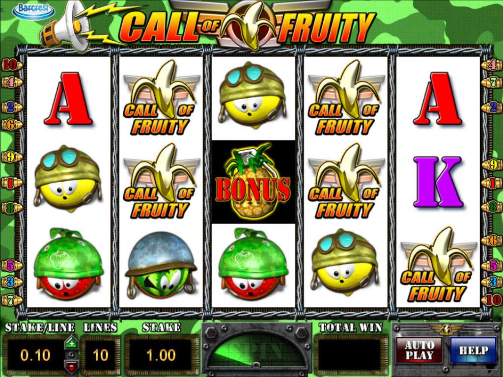 Automat bez stahování Call of Fruity
