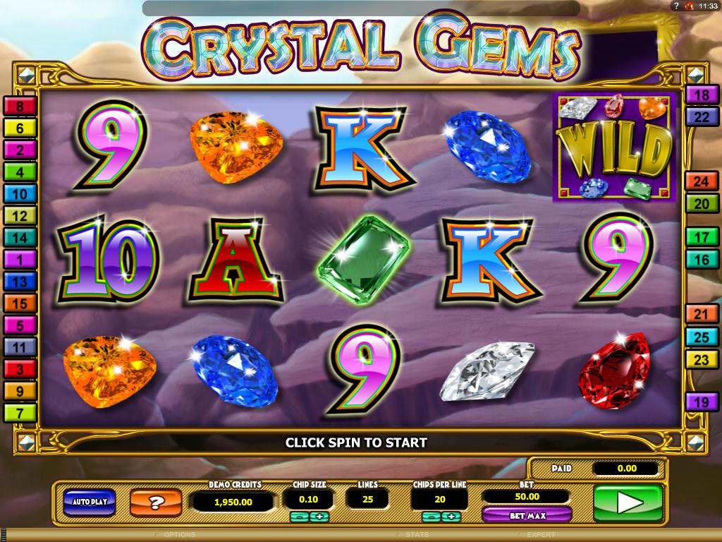 Zdarma výherní automat Crystal Gems online