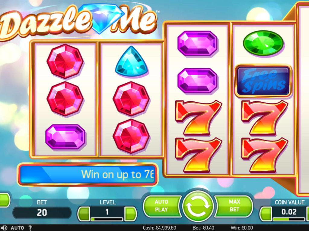Casino automat Dazzle Me bez vkladu