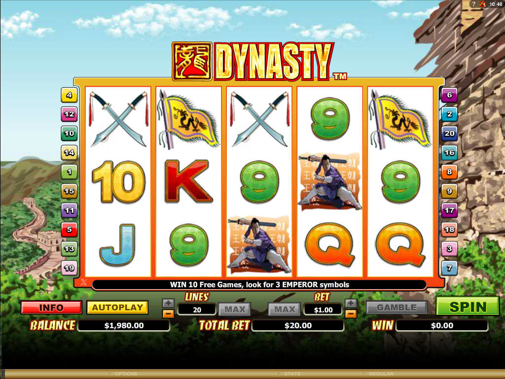 Obrázek ze hry automatu Dynasty online