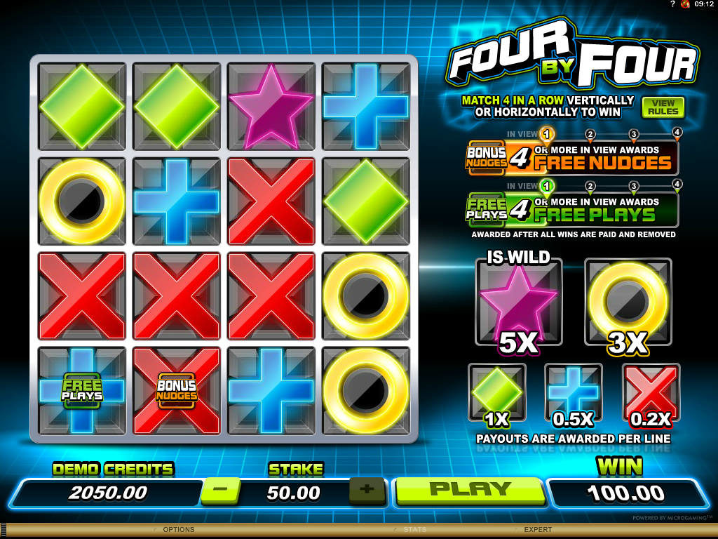 Herní automatu Four by Four online