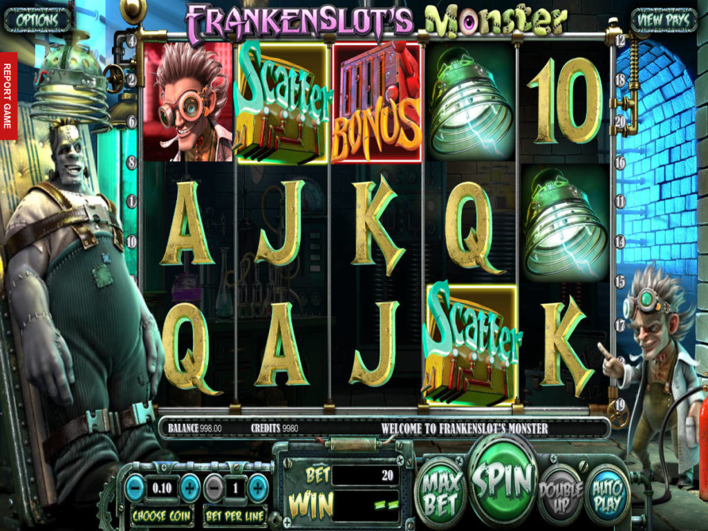 Herní automat Frankenslot's Monster bez registrace